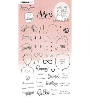 Karin Joan Clear Stamp Missees Collection Anna & Bella