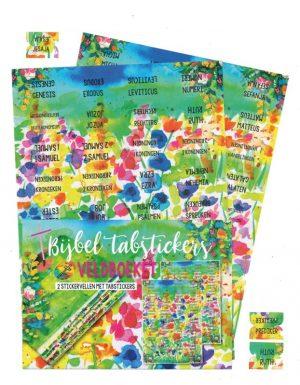 Bijbelboeken tabstickers watercolor veldboeket