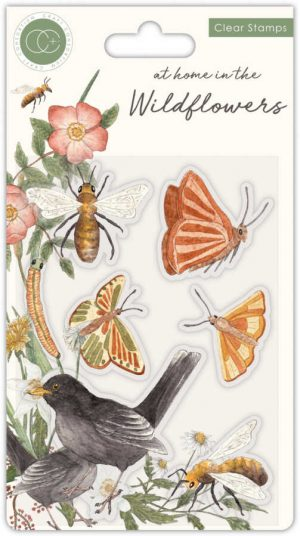 Clearstamps Wildflowers Butterfly