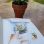terrasje schetsboek