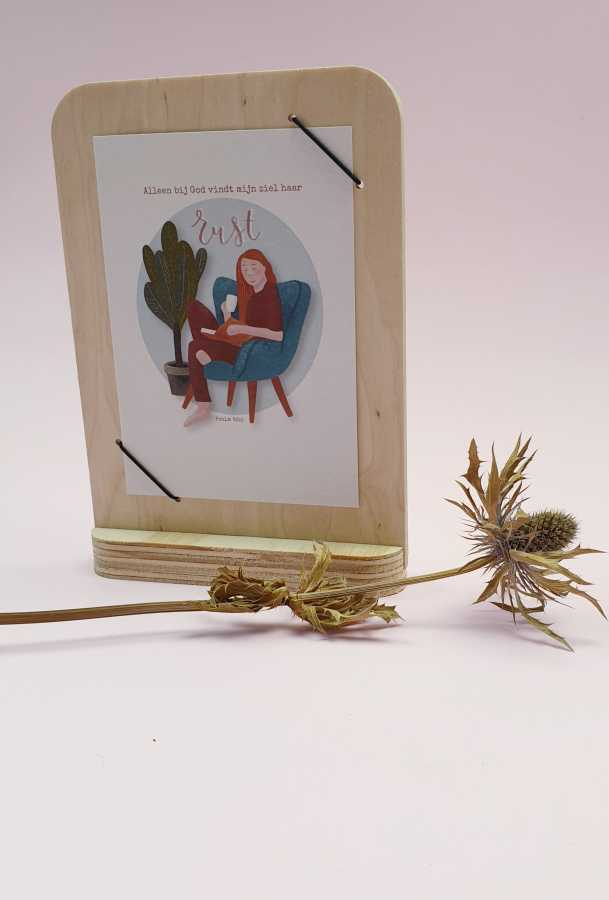 houten kaartenhouder by woom
