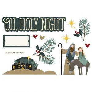 Kerst die cuts Oh holy night (Simple Stories)