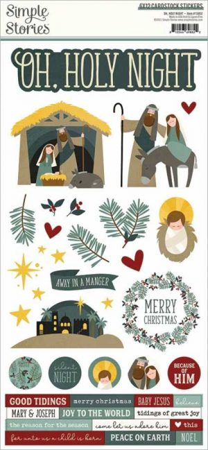 Simple Stories Oh holy night stickers