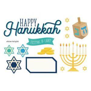 Biblejournaling die cuts Happy Hannukkah (Simple Stories)